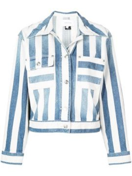 Striped Denim Jacket - Current/elliott