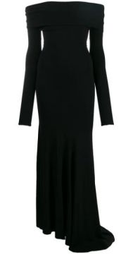 Bardot Long Sleeve Evening Dress - Alexandre Vauthier