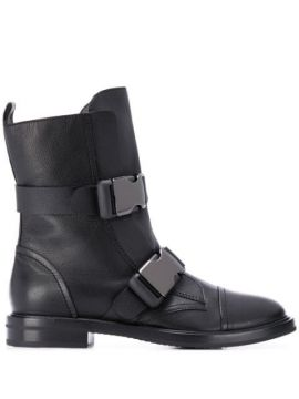 Buckle Strap Boots - Casadei