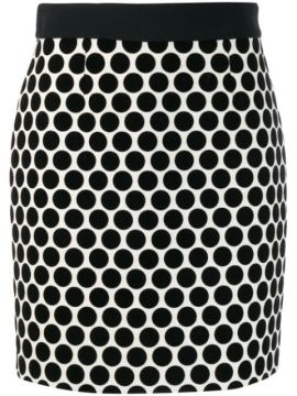 Dotted Fitted Skirt - Fausto Puglisi