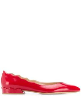 Scalloped Edge Ballerina Pumps - Chloé