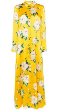 Floral Shirt-style Maxi Dress - We Are Leone