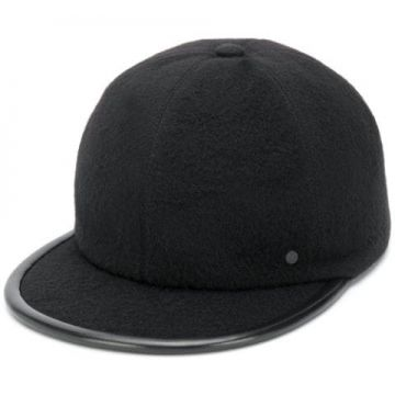 Leather Trim Baseball Cap - Maison Michel