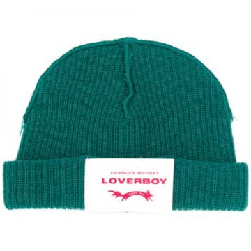 Beanie Hat With Logo Patch - Charles Jeffrey Loverboy