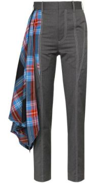 Draped Tartan Tailored Trousers - Charles Jeffrey Loverboy