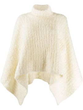 Turtleneck Knitted Poncho - Jacquemus