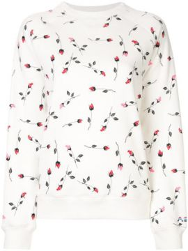 Rose Pattern Sweatshirt - Adam Selman Sport