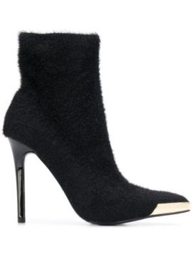 Fur Effect Heeled Boots - Versace Jeans Couture