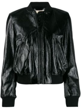 Patent Bomber Jacket - Michael Kors Collection