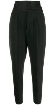 High-rise Tapered Trousers - Dondup