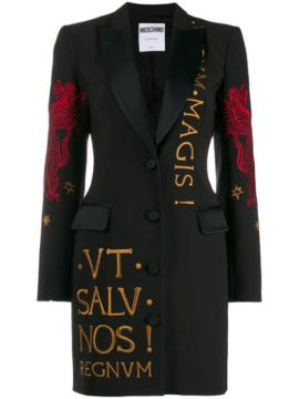 Dragon Embroidered Blazer Dress - Moschino