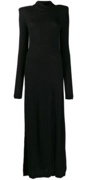 Unravel Project - Woman - Woolcash Twisted H Neck Dress Blac