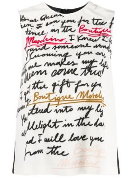 Text Print Vest Top - Boutique Moschino