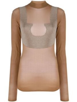 Sheer High Neck T-shirt - Courrèges