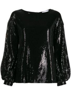 Sequinned Puff-sleeve Blouse - Dondup