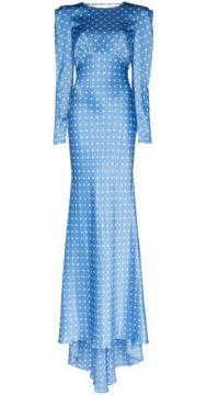 Polka-dot Silk Long Dress - Alessandra Rich