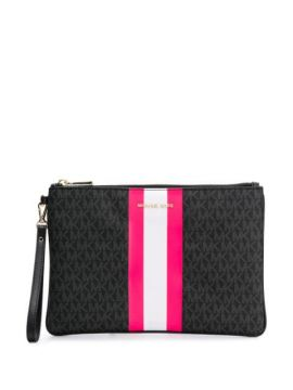 Neon Stripe Clutch Bag - Michael Michael Kors