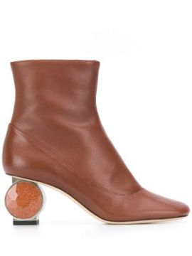 Ankle Boot Com Enfeite No Salto - Loewe