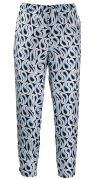 Cropped Printed Trousers - Marni
