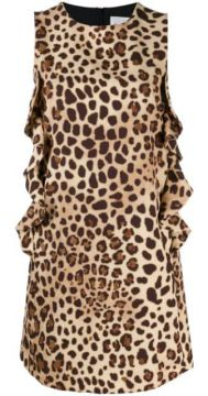Vestido Mini Com Animal Print - Be Blumarine