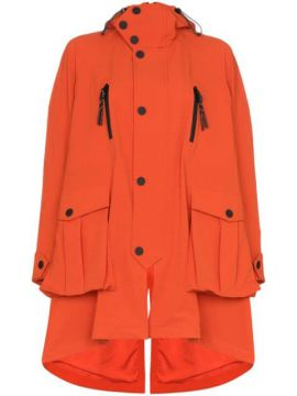 Embroidered Hooded Parka Coat - Angel Chen