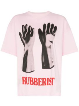 Rubberised Glove Print T-shirt - Christopher Kane