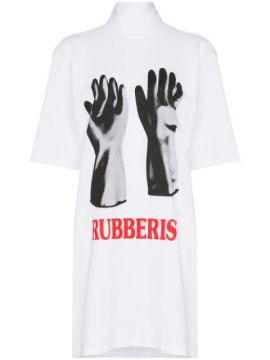 Oversized Rubberist Glove Print Cotton T-shirt - Christopher