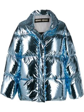 Metallic Padded Jacket - Ienki Ienki