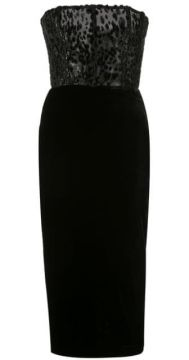 Strapless Huxley Midi Dress - Alex Perry