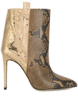 Snakeskin Effect Boots - Paris Texas