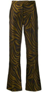 Tiger-print Bootcut Trousers - 3.1 Phillip Lim