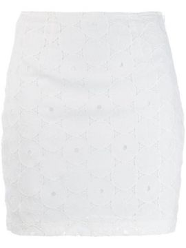 Anglaise Lace Embroidered Skirt - Staud