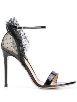 Heeled Tulle Detail Sandals - Gianvito Rossi