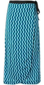 Geometric Print Wrap Skirt - Cefinn