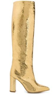 Metallic Snake Effect Boots - Paris Texas