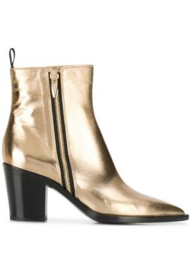 Metallic Ankle Boots - Gianvito Rossi