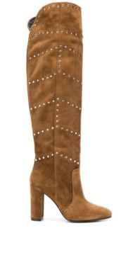 Studded Knee High Boots - Via Roma 15