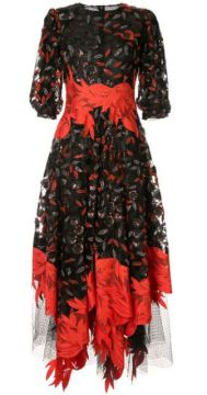 Floral Sequinned Midi Dress - Costarellos