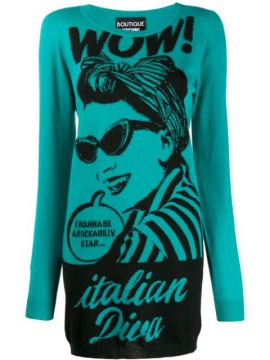 italian Diva Knitted Dress - Boutique Moschino
