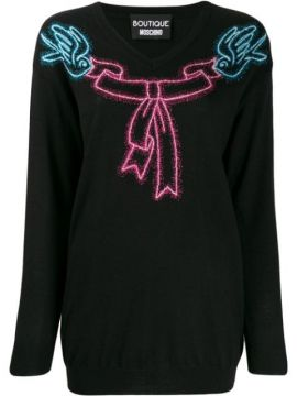 Bow Jumper - Boutique Moschino