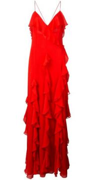 Claudine Ruffled Gown - Alice+olivia