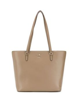 Monogram Leather Tote - Dkny