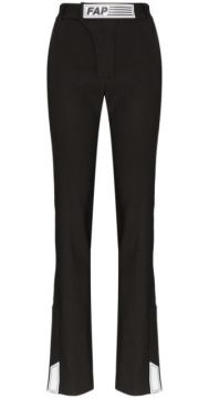 Tailored Logo Patch Trousers - Filles A Papa