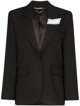 Tailored Logo Patch Blazer - Filles A Papa