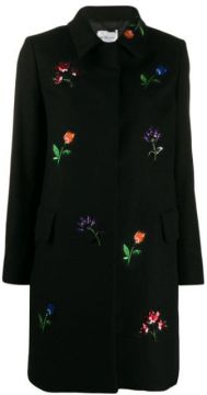 Flower Embellished Coat - Be Blumarine