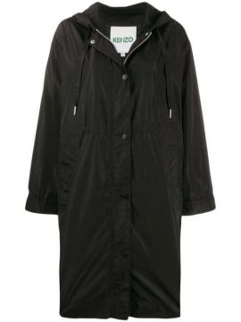 Logo Hooded Raincoat - Kenzo