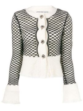 Layered Mesh Cropped Jacket - Alexander Wang