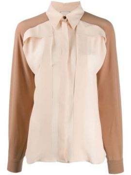 Long-sleeved Two-tone Shirt - Alysi