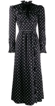 Ruffled Polka Dot Dress - Alessandra Rich