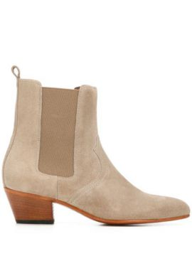 Ankle Boot Com Salto Bloco - Closed